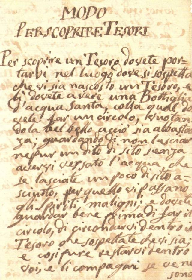 Una pagina del manoscritto originale